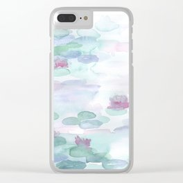 Monet Lily pads Clear iPhone Case