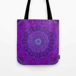 Mandala art drawing design purple fuchsia periwinkle Tote Bag