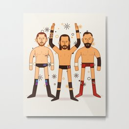 Undisputed Group (Wrestler Illustration) Metal Print