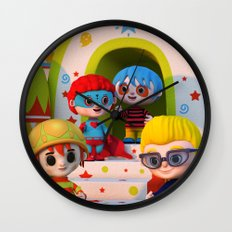 Turtle Boy's Gang Wall Clock