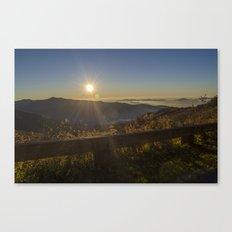 Sunrise on the Blue Ridge  Canvas Print