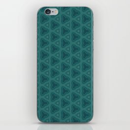 Dark Teal Textured Pattern Design iPhone Skin
