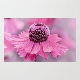 Pink flower macro 066 Rug