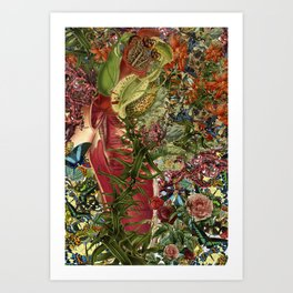 """""""emergence"""" anatomical collage art by bedelgeuse Art Print"""