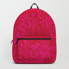 Christmas Brocade Lace with Doves Backpack