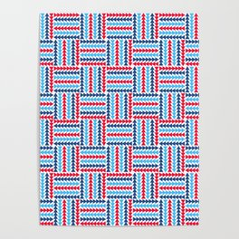 AFE Abstract Basket Weave Poster