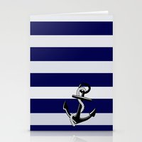 nautical Stationery Cards featuring Nautical by Kristi Kaz
