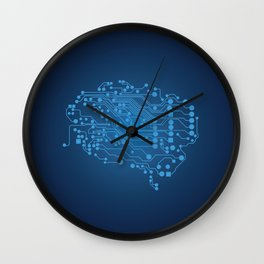 Electric brain Wall Clock