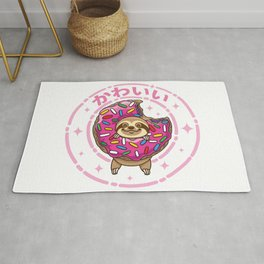 Kawaii Sloth Rug