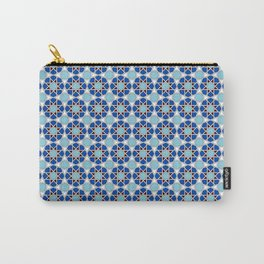 Islamic geometric Moroccan pattern in blue Carry-All Pouch