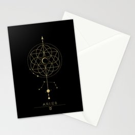 Aries Zodiac Constellation Stationery Cards