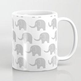 Grey Elephant Parade Coffee Mug