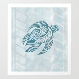 Hawaiian Tribal Turtle Art Print