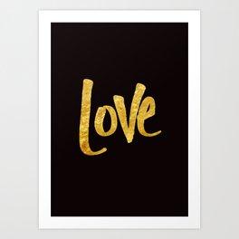 Love Handwritten Type Art Print