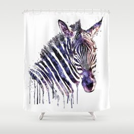 Zebra Head Shower Curtain