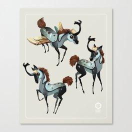 Tiny Unicorn Canvas Print