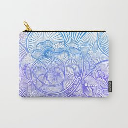 The Ebb and Flow - Purp & Blue Carry-All Pouch