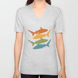 Retro Shark Unisex V-Neck