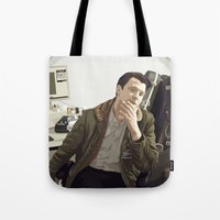 british Tote Bags featuring British Intelligence by AdamAether