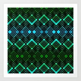 TARTAN REVISTED - GREEN Art Print