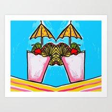 Miami Vice - Tropical Drink - Beach Cocktail - daiquiri Art Print