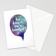 God bless it, you're beautiful! (Valentine Love Note) Stationery Cards