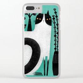 CAT SHELF BACK Clear iPhone Case