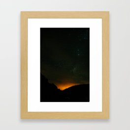 night sky in northern Chile Framed Art Print