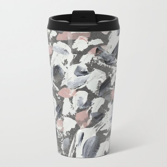 White and Grey Metal Travel Mug