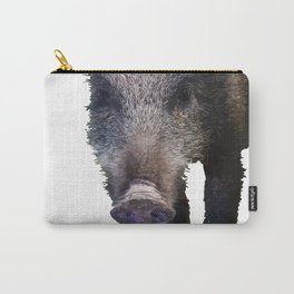 Crazy As A Peach Orchard Boar Vector Carry-All Pouch
