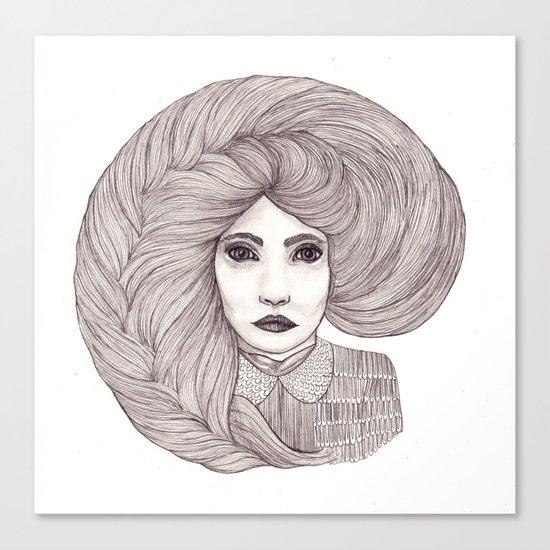 Lady Canvas Print