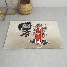 Angry Boss Screaming Deadline Rug