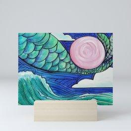 Flying Mermaid #3 Mini Art Print