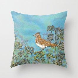 Summer Skylark Throw Pillow