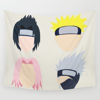 naruto Wall Tapestries featuring naruto Team 7 by FanFreak