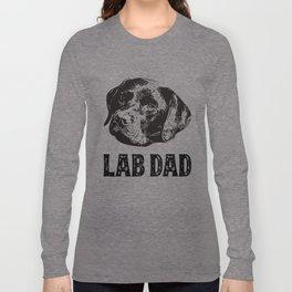 Lab Dad Chocolate Labrador Retriever Long Sleeve T-shirt