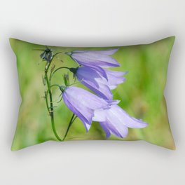 Violet blue Harebell Flower Rectangular Pillow