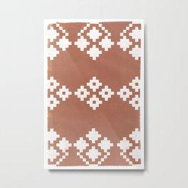 Geometric Pattern | Clay Background Metal Print
