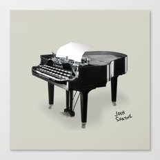 Piano/Typewriter Canvas Print