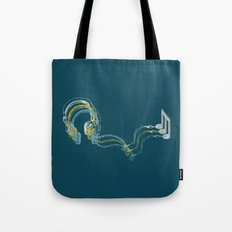 Plug in the music Tote Bag