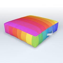 Solid Rainbow Outdoor Floor Cushion