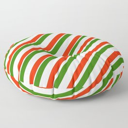 TEAM COLORS 1...Gren ,red,white Floor Pillow