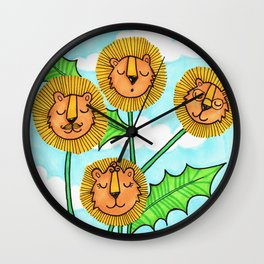 Dandy Lions Wall Clock
