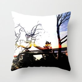steel trees Throw Pillow