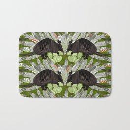 native armadillos green Bath Mat