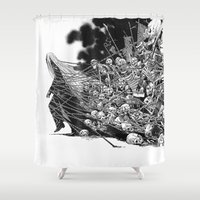 scary Shower Curtains featuring Scary Soul by bimorecreative
