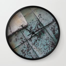 Turquoise Tiles Wall Clock