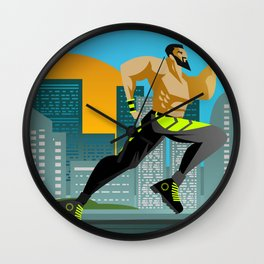fitness runner training in the city Wall Clock
