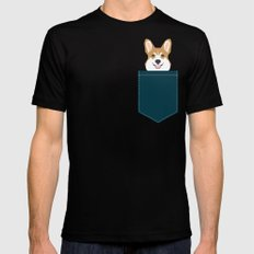 Teagan - Corgi Welsh Corgi gift phone case design for pet lovers and dog people MEDIUM Mens Fitted Tee Black