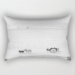 Puppy Traffic, French Bulldogs, Frenchie Art, French Bulldog Gifts Rectangular Pillow